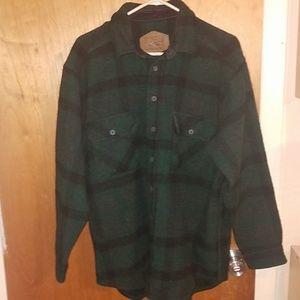 Mens green plaid woolrich jacket